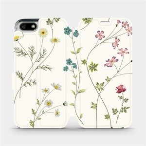 Flipové pouzdro Mobiwear na mobil Honor 7S - MD03S Tenké rostlinky s květy