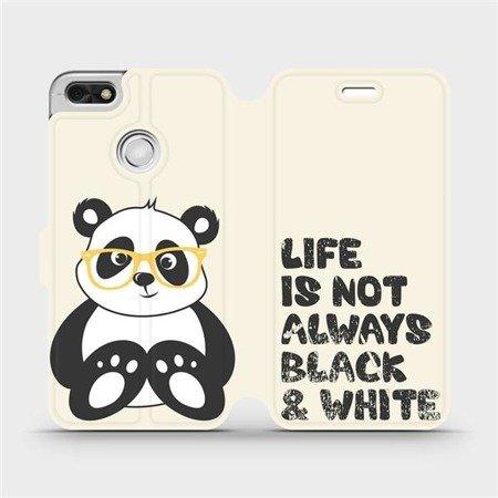 Flipové pouzdro Mobiwear na mobil Huawei P9 Lite mini - M041S Panda - life is not always black and white