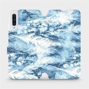 Flipové pouzdro Mobiwear na mobil Samsung Galaxy A50 - M058S Světle modrá horizontální pírka