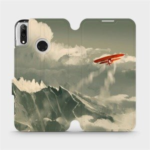 Flipové pouzdro Mobiwear na mobil Huawei Y7 2019 - MA03P Oranžové letadlo v horách