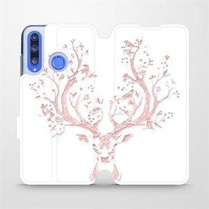 Flipové pouzdro Mobiwear na mobil Honor 20 Lite - M007S Růžový jelínek