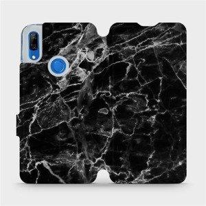 Flipové pouzdro Mobiwear na mobil Huawei P Smart Z - V056P Černý mramor