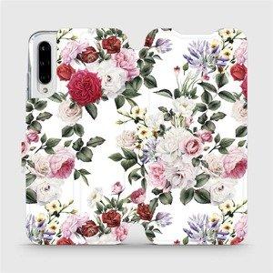 Flipové pouzdro Mobiwear na mobil Xiaomi Mi A3 - MD01S Růže na bílé