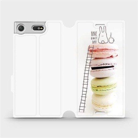 Flipové pouzdro Mobiwear na mobil Sony Xperia XZ1 Compact - M090P Makronky - have a nice day