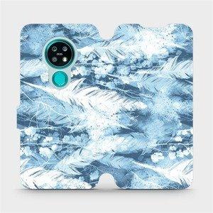 Flipové pouzdro Mobiwear na mobil Nokia 7.2 - M058S Světle modrá horizontální pírka