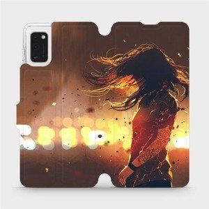 Flipové pouzdro Mobiwear na mobil Samsung Galaxy A41 - MA02S Tetovaná dívka