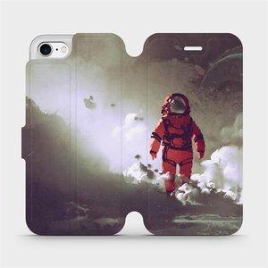 Flipové pouzdro Mobiwear na mobil Apple iPhone SE 2020 - MA07S Týpek ve skafandru