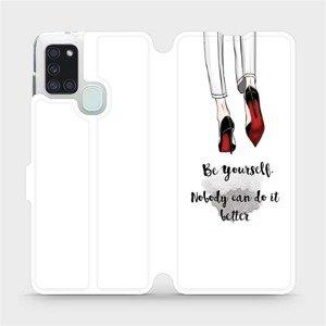 Flipové pouzdro Mobiwear na mobil Samsung Galaxy A21S - M046P Be yourself