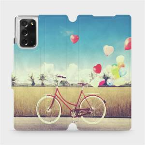 Flipové pouzdro Mobiwear na mobil Samsung Galaxy Note 20 - M133P Kolo a balónky