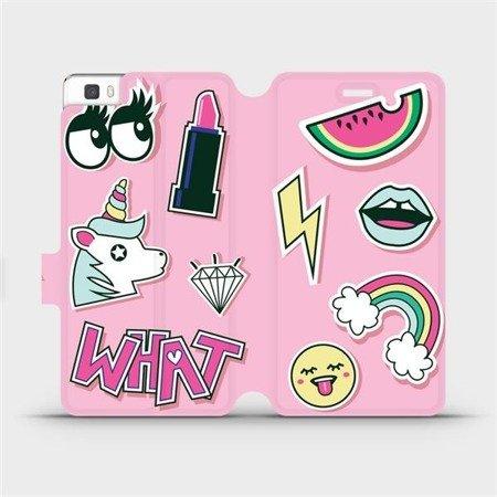 Flipové pouzdro Mobiwear na mobil Huawei P8 Lite - M129S Růžové WHAT