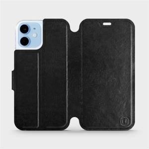 Flipové pouzdro Mobiwear na mobil Apple iPhone 12 mini v provedení C_BLS Black&Gray s šedým vnitřkem