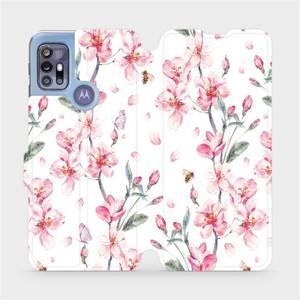 Flipové pouzdro Mobiwear na mobil Motorola Moto G30 - M124S Růžové květy