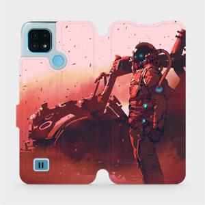 Flip pouzdro Mobiwear na mobil Realme C21 - MA09S Průzkumník s červeným vozítkem