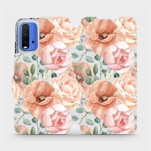 Flip pouzdro Mobiwear na mobil Xiaomi Redmi 9T - MP02S Pastelové květy