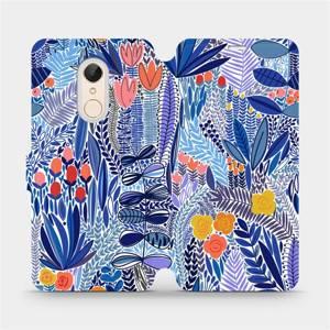 Flip pouzdro Mobiwear na mobil Xiaomi Redmi 5 - MP03P Modrá květena