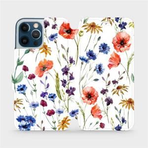 Flip pouzdro Mobiwear na mobil Apple iPhone 12 Pro Max - MP04S Luční kvítí