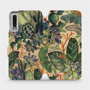 Flip pouzdro Mobiwear na mobil Samsung Galaxy A7 2018 - VP05S Sukulenty