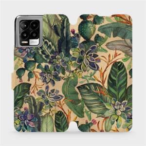 Flip pouzdro Mobiwear na mobil Realme 8 - VP05S Sukulenty