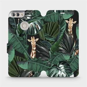 Flip pouzdro Mobiwear na mobil Huawei P Smart - VP06P Žirafky
