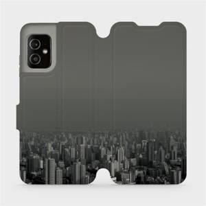 Flip pouzdro Mobiwear na mobil Asus Zenfone 8 - V063P Město v šedém hávu