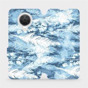 Flip pouzdro Mobiwear na mobil Nokia G20 - M058S Světle modrá horizontální pírka