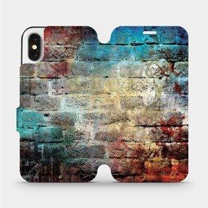 Flipové pouzdro Mobiwear na mobil Apple iPhone X - V061P Zeď