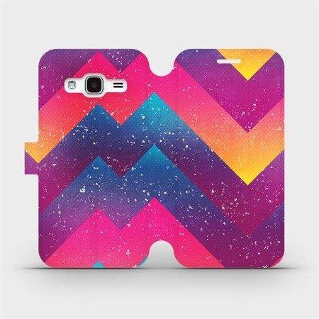 Flipové pouzdro Mobiwear na mobil Samsung Galaxy J3 2016 - V110S Barevné klikyháky