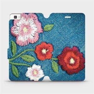 Flipové pouzdro Mobiwear na mobil Huawei P8 Lite - MD05P Džínové květy