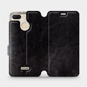 Flipové pouzdro Mobiwear na mobil Xiaomi Redmi 6 v provedení C_BLS Black&Gray s šedým vnitřkem