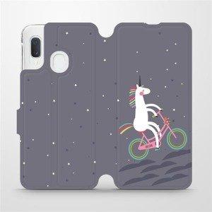 Flipové pouzdro Mobiwear na mobil Samsung Galaxy A20e - V024P Jednorožec na kole