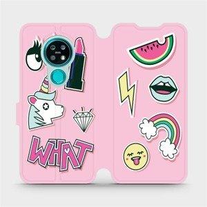 Flipové pouzdro Mobiwear na mobil Nokia 7.2 - M129S Růžové WHAT