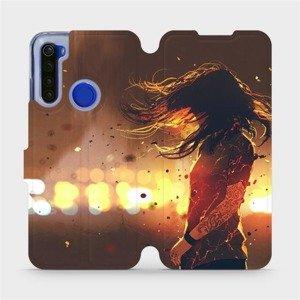 Flipové pouzdro Mobiwear na mobil Xiaomi Redmi Note 8T - MA02S Tetovaná dívka