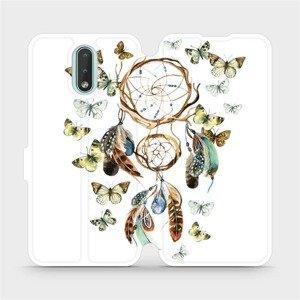 Flipové pouzdro Mobiwear na mobil Nokia 2.3 - M001P Lapač a motýlci