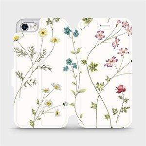 Flipové pouzdro Mobiwear na mobil Apple iPhone SE 2020 - MD03S Tenké rostlinky s květy