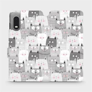 Flipové pouzdro Mobiwear na mobil Samsung Xcover PRO - M099P Kočičky