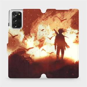 Flipové pouzdro Mobiwear na mobil Samsung Galaxy Note 20 - MA06S Postava v ohni