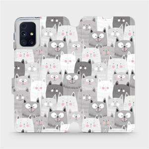 Flipové pouzdro Mobiwear na mobil Samsung Galaxy M31s - M099P Kočičky
