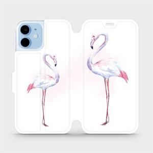 Flipové pouzdro Mobiwear na mobil Apple iPhone 12 mini - M005S Plameňáci