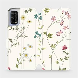 Flipové pouzdro Mobiwear na mobil Realme 7 5G - MD03S Tenké rostlinky s květy