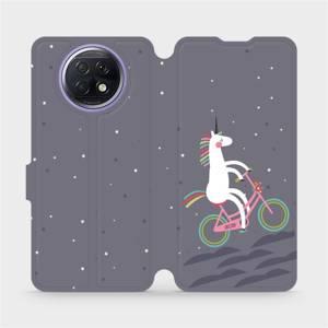Flipové pouzdro Mobiwear na mobil Xiaomi Redmi Note 9T 5G - V024P Jednorožec na kole