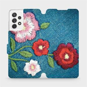 Flipové pouzdro Mobiwear na mobil Samsung galaxy A72 5G - MD05P Džínové květy