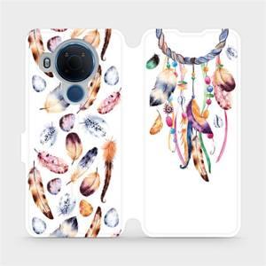 Flipové pouzdro Mobiwear na mobil Nokia 5.4 - M003S Lapač a barevná pírka