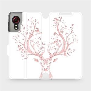 Flipové pouzdro Mobiwear na mobil Samsung Galaxy Xcover 5 - M007S Růžový jelínek