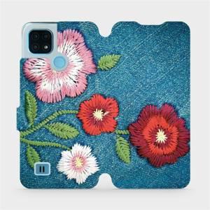 Flip pouzdro Mobiwear na mobil Realme C21 - MD05P Džínové květy