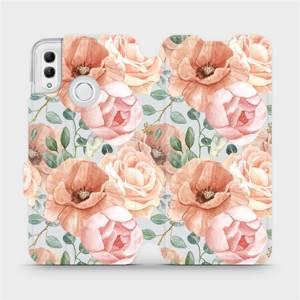 Flip pouzdro Mobiwear na mobil Honor 10 Lite - MP02S Pastelové květy