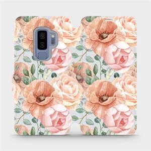 Flip pouzdro Mobiwear na mobil Samsung Galaxy S9 Plus - MP02S Pastelové květy