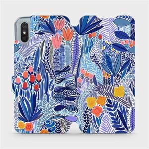 Flip pouzdro Mobiwear na mobil Xiaomi Redmi 9A - MP03P Modrá květena