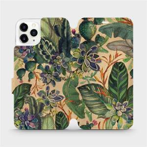 Flip pouzdro Mobiwear na mobil Apple iPhone 11 Pro Max - VP05S Sukulenty
