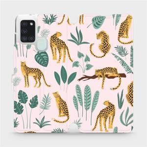 Flip pouzdro Mobiwear na mobil Samsung Galaxy A21S - MP07S Leopardi