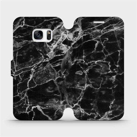 Flipové pouzdro Mobiwear na mobil Samsung Galaxy S7 - V056P Černý mramor